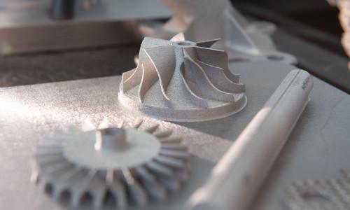 Printed metal parts.